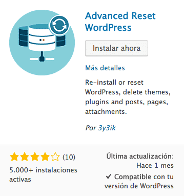 advanced reset wordpress