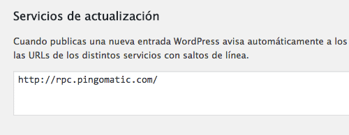 ajuste wordpress servicios de actualizacion