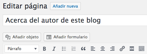Añadir formulario Ninja Forms a WordPress