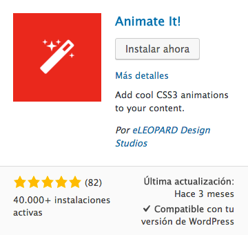 Animate It! Plugin WordPress