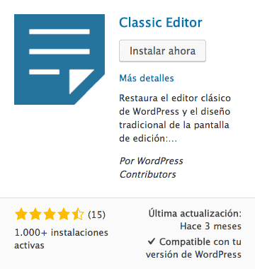 classic editor plugin WordPress