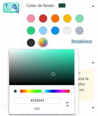 Cambiar color de fondo en editor Gutenberg