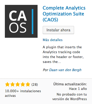 Complete Analytics Optimization Suite (CAOS)