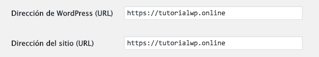 configuracion ajustes generales wordpress