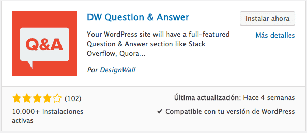 Crear foro con DW Question and Answer