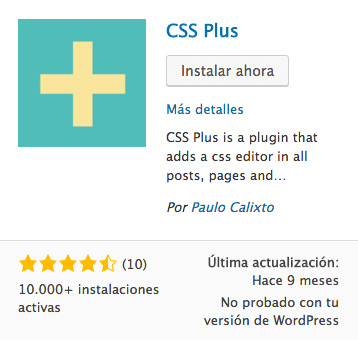 CSS Plus plugin WordPress