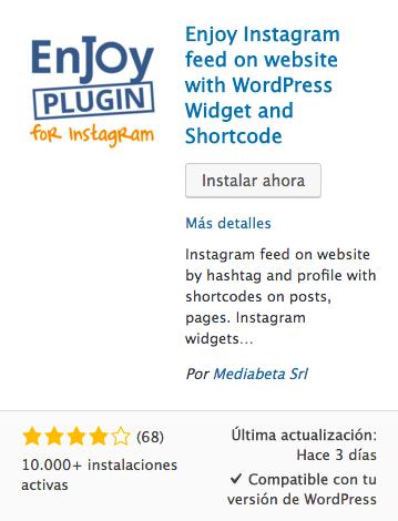 enjoy plugin for instagram