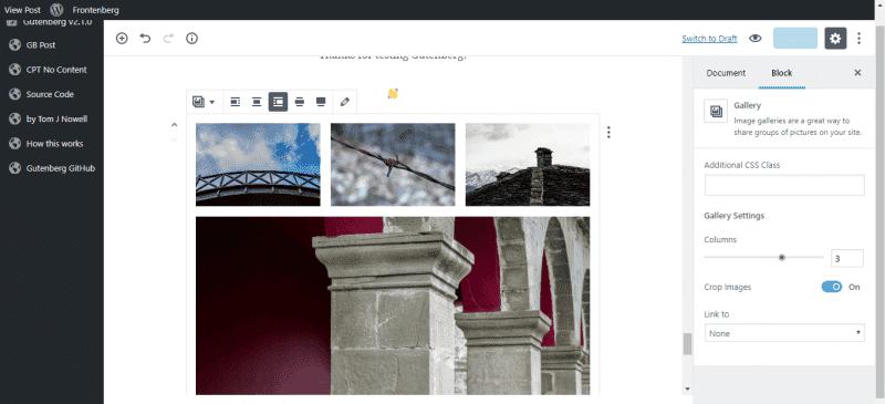galeria gutenberg wordpress
