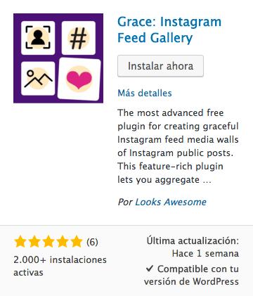 Grace: Instagram Feed Gallery