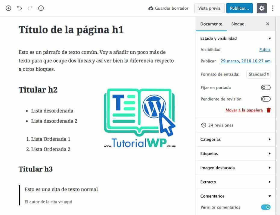 ▷【Tutorial Gutenberg WordPress】¿List@ para el nuevo editor 5.0?