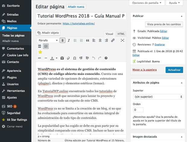 Historia WordPress 4.9
