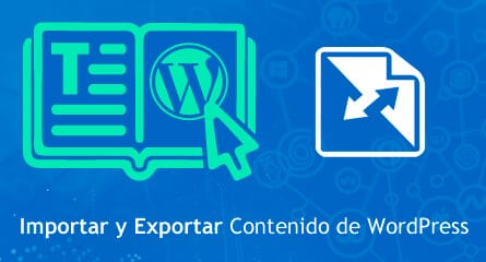 importar exportar wordpress