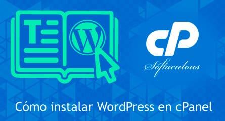 como instalar wordpress en cpanel con softaculous
