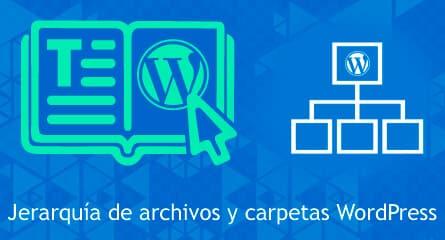 jerarquia estructura archivos wordpress