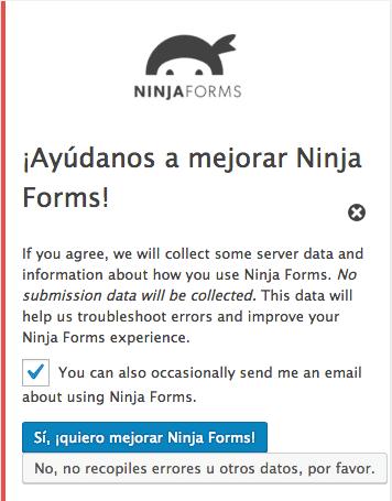 Mejorar Ninja Forms